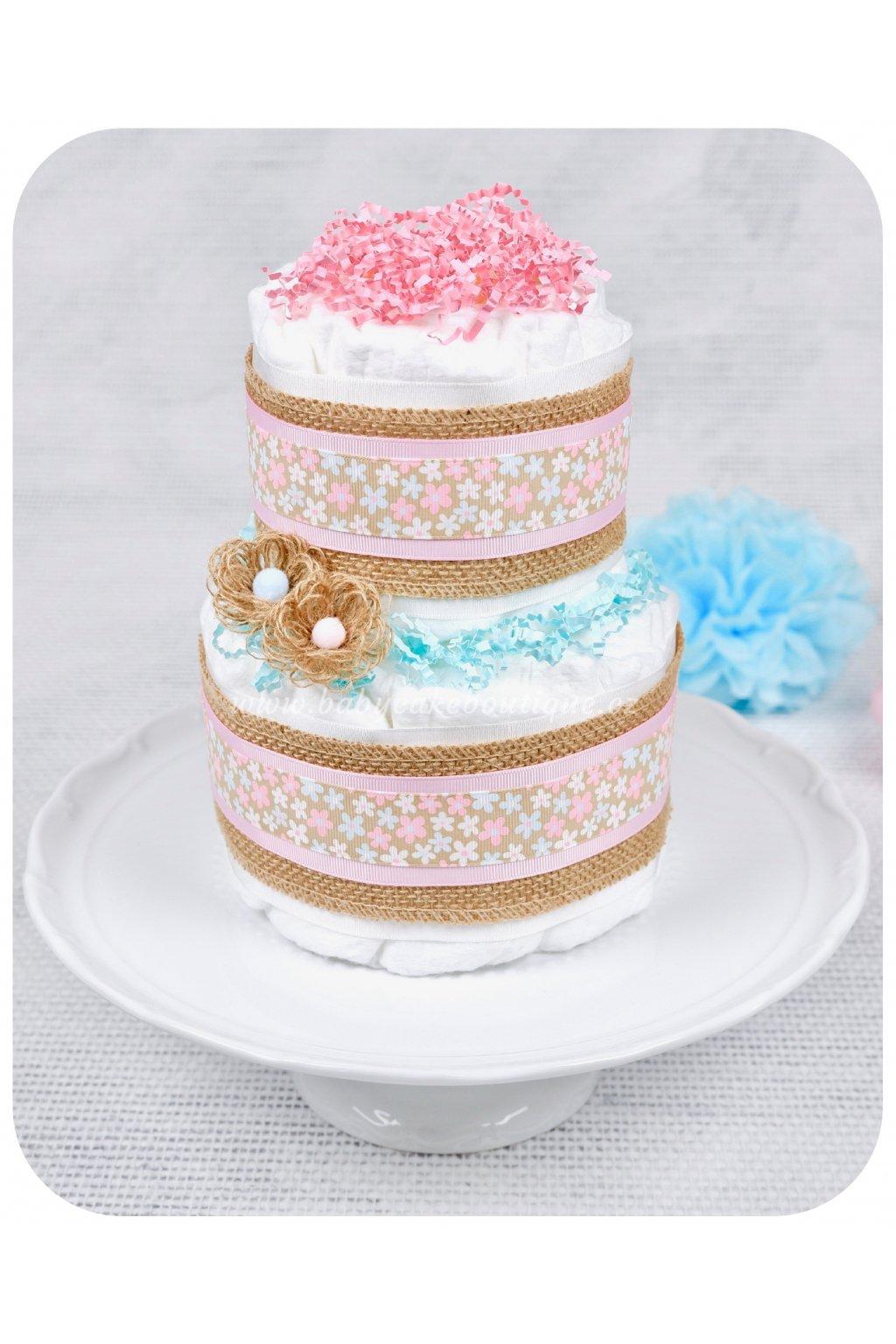 Dvoupatrový plenkový dort Sáva