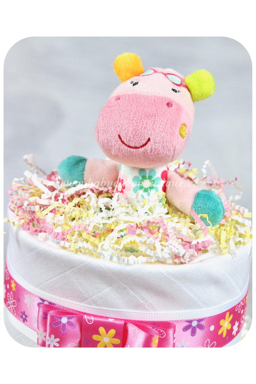 Dvoupatrový plenkový dort Tonička detail 1