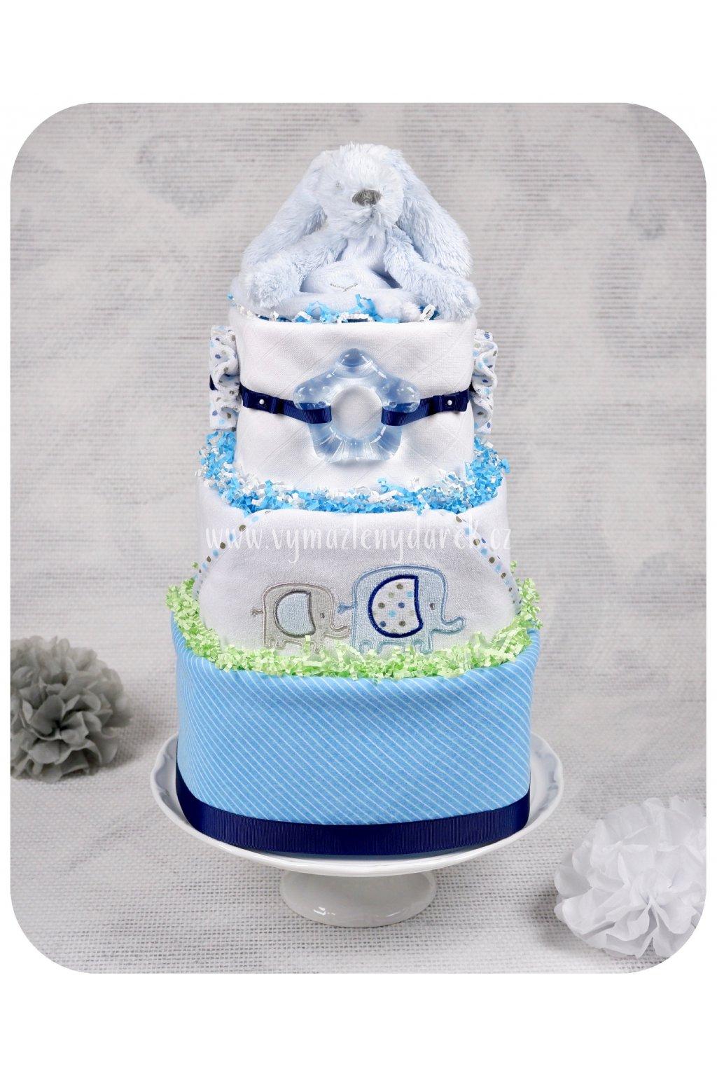 Třípatrový plenkový dort Richie
