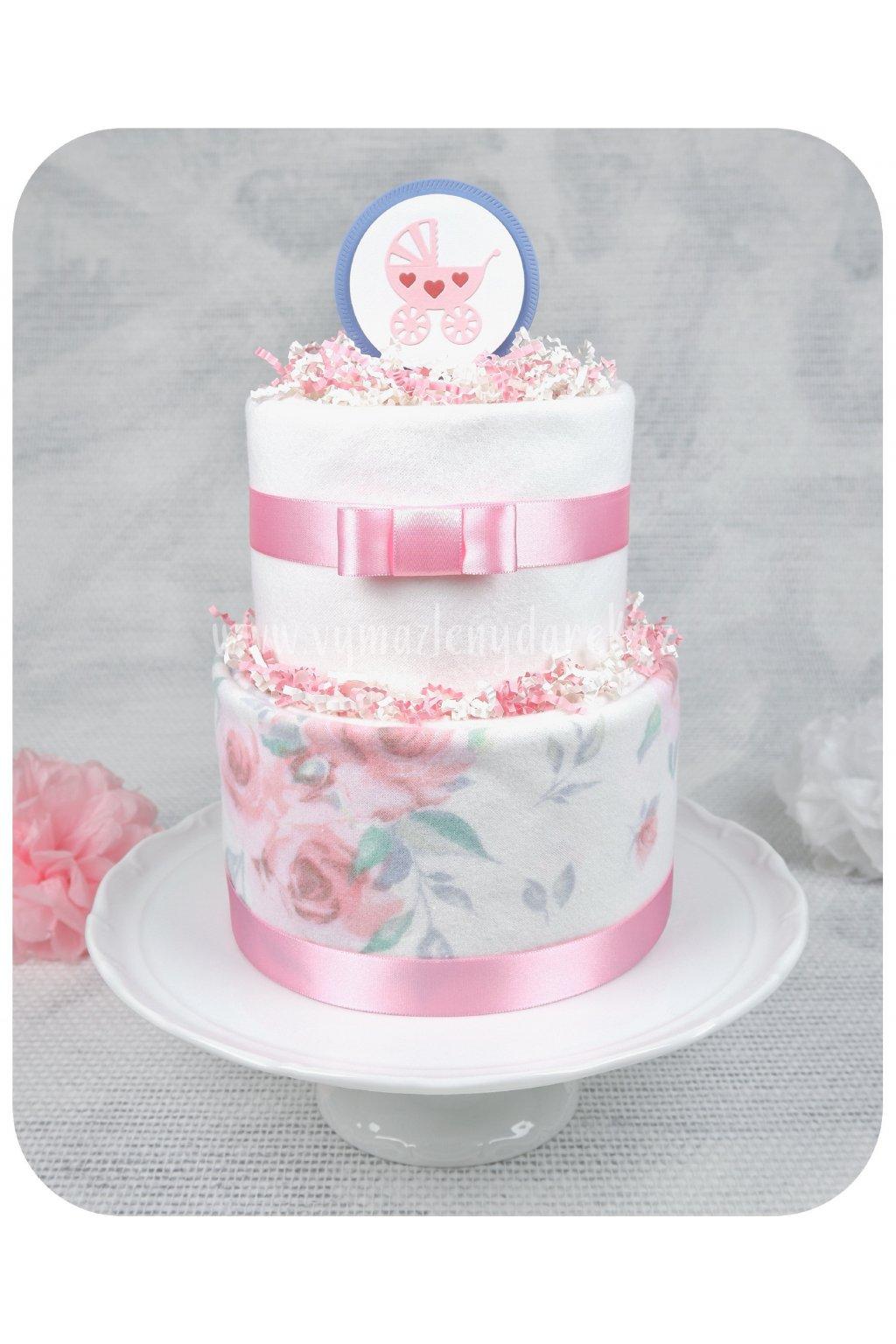 Dvoupartový plenkový dort Růženka