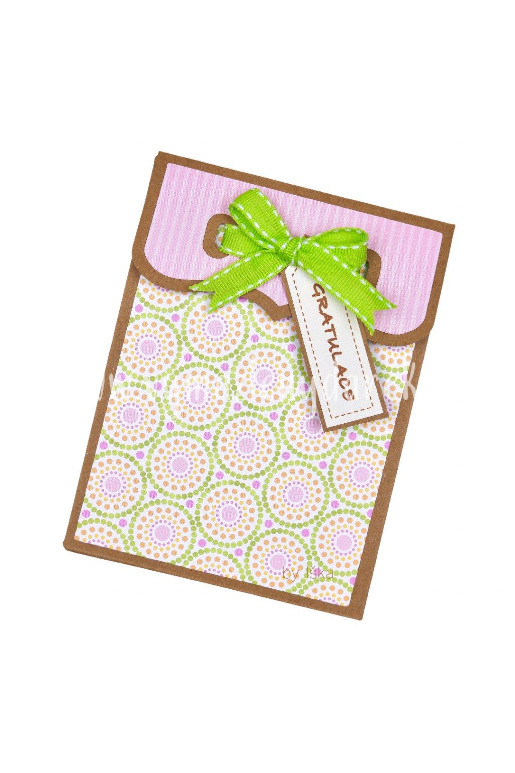 Darovací obálka na dárkovou kartu #1 růžová