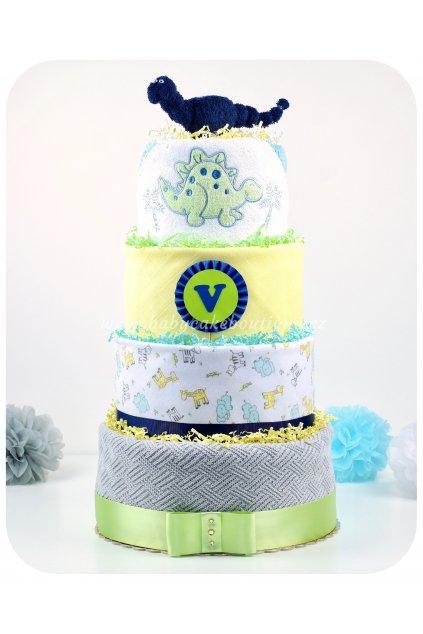Čtyřpatrový plenkový dort Vilík
