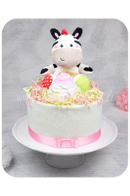 Jednopatrový plenkový dort Emilka