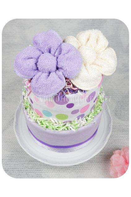 Dvoupatrový plenkový dort Zorka shora