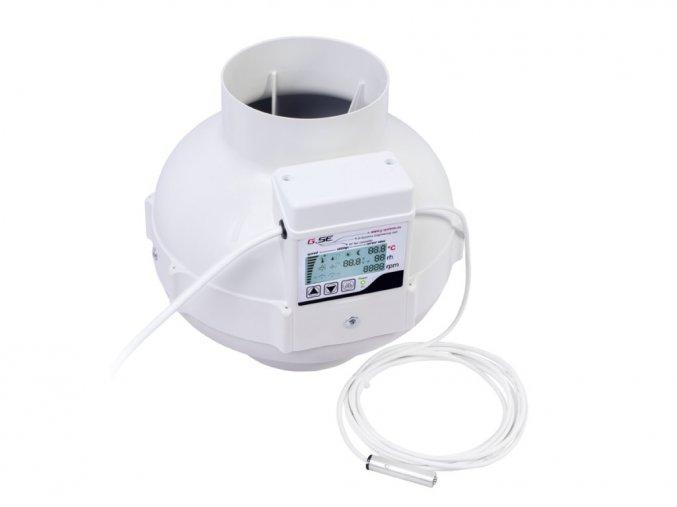 GSE - General System Engineering GSE EC Ventilátor 950 m3/h, 125 mm s digitálním regulátorem teploty a vlhkosti
