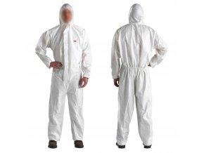 Bílý ochranný oblek 3M - XXL
