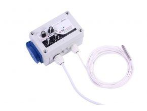 GSE Digitalní regulátor teploty, min&max rychlosti ventilatoru a hystereze 10A