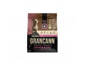 Grancann Chicken & Fish with Hemp seeds-Puppy all breeds 3kg