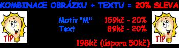 Kombinace obrázku a textu