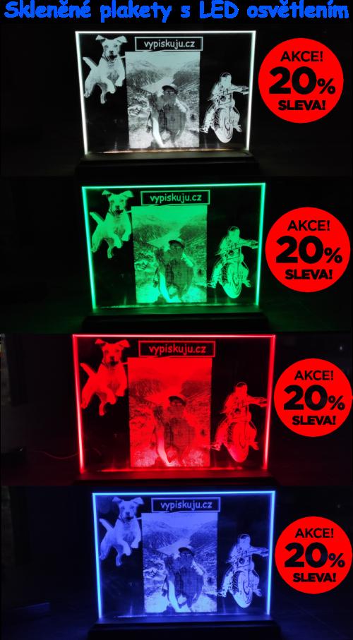 Skleněné plakety s LED osvětlením