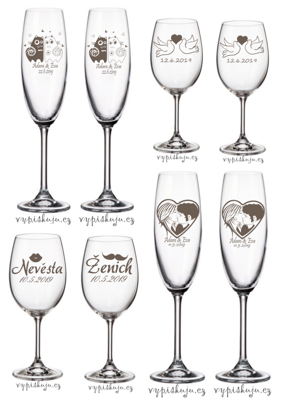 Svatební skleničky ukázka