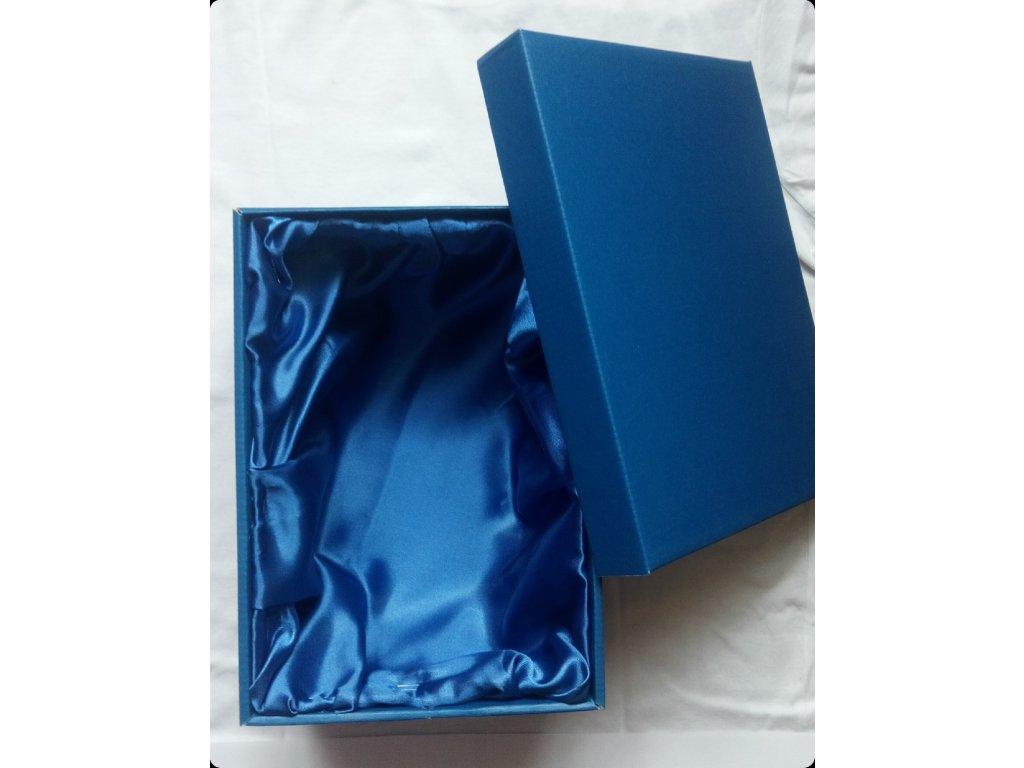 dárková krabička se saténem bez okénka