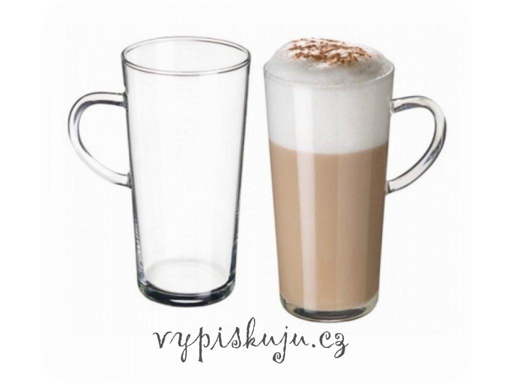 Skleněný hrnek na latté Karina 350 ml