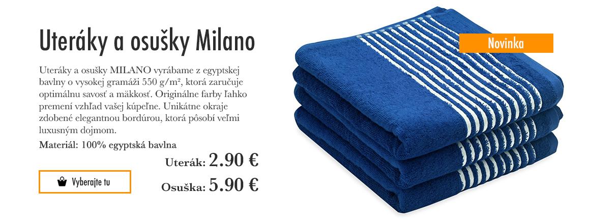 Ručníky a osušky MILANO