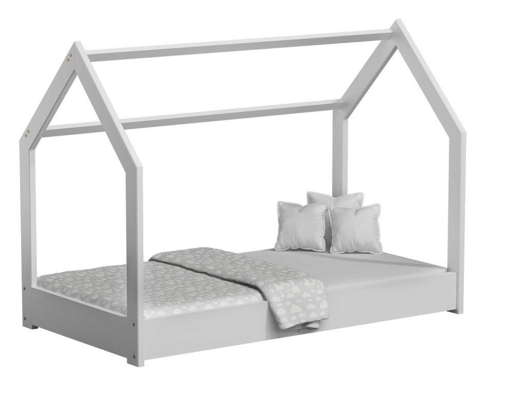 Detská posteľ DOMČEK D1 biely 80x160 cm