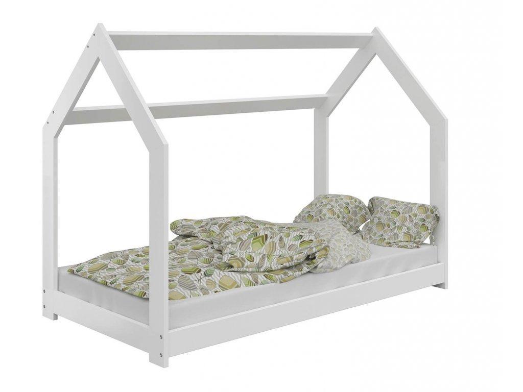 Detská posteľ DOMČEK D2 biely 80x160 cm