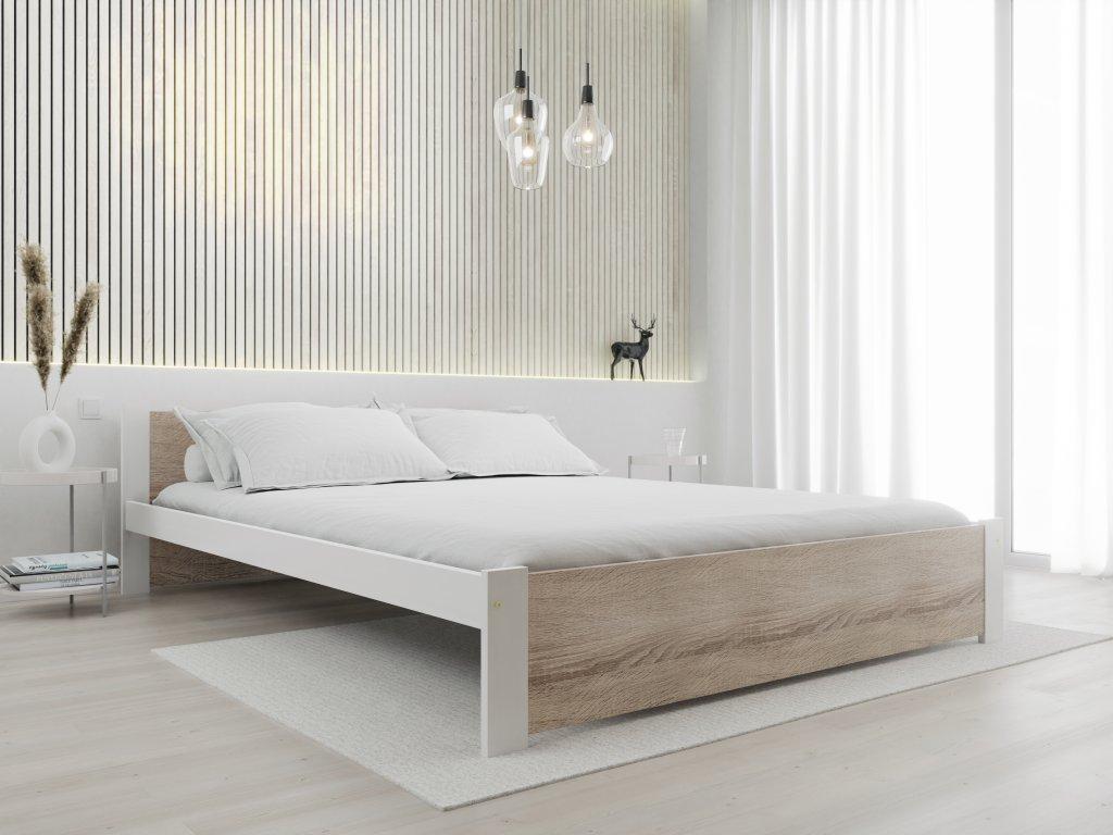 Posteľ IKAROS 140 x 200 cm, biela
