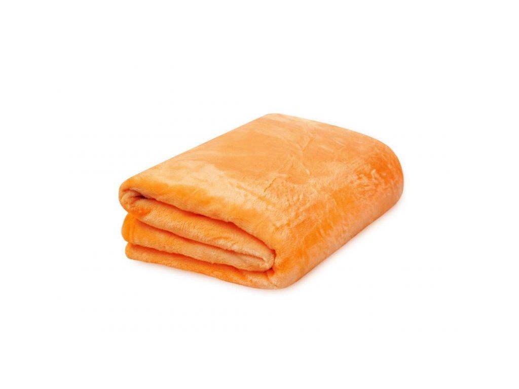 Deka z mikrovlákna 150x200 cm oranžová