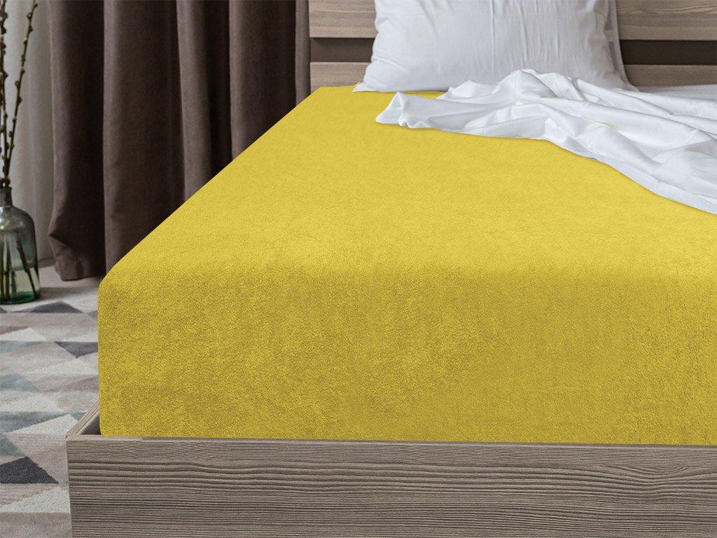 Froté plachta žltá 160x200 cm