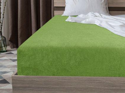 Froté plachta zelená 160x200 cm