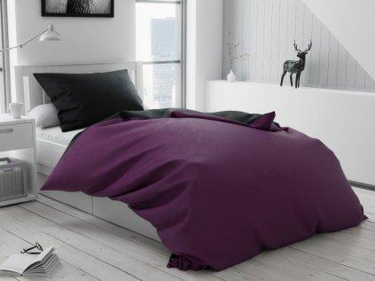 Bavlnené obliečky DUO fialové