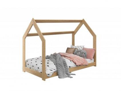 Detská posteľ DOMČEK D2 borovica 80x160 cm