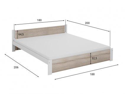 Posteľ IKAROS 180 x 200 cm, biela