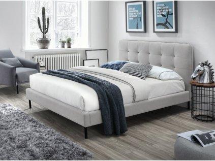 Čalúnená posteľ SALLY 160x200 cm sivá