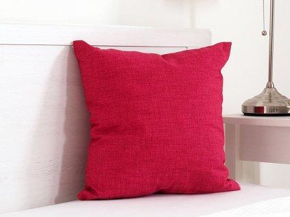 Dekoračný vankúšik Melange červený