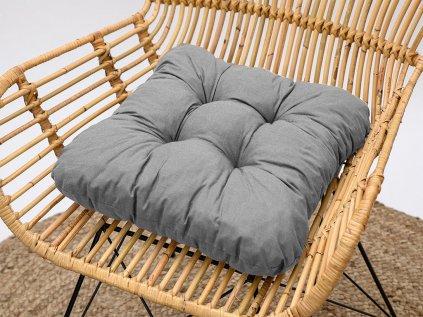 Podložka na stoličku Soft svetlo sivá