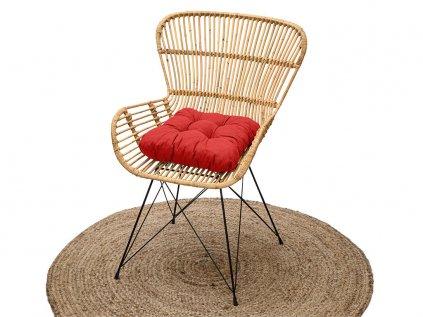 Podložka na stoličku Soft červená