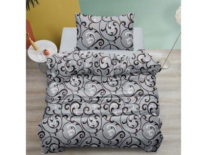 Bavlnené obliečky Orient sivé