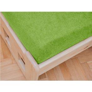 Froté plachta zelená 180x200 cm