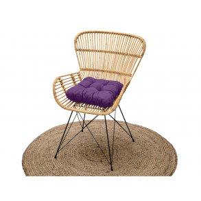Podložka na stoličku Soft fialová