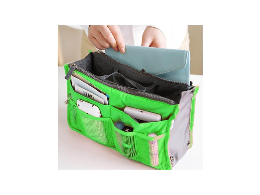 organizer do kabelky zeleny