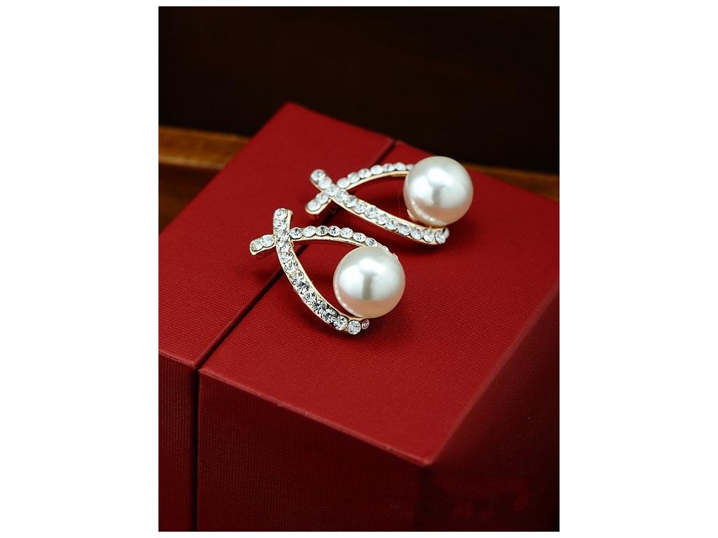 Náušnice Pearls (Barevná varianta Zlaté barevné provedení)
