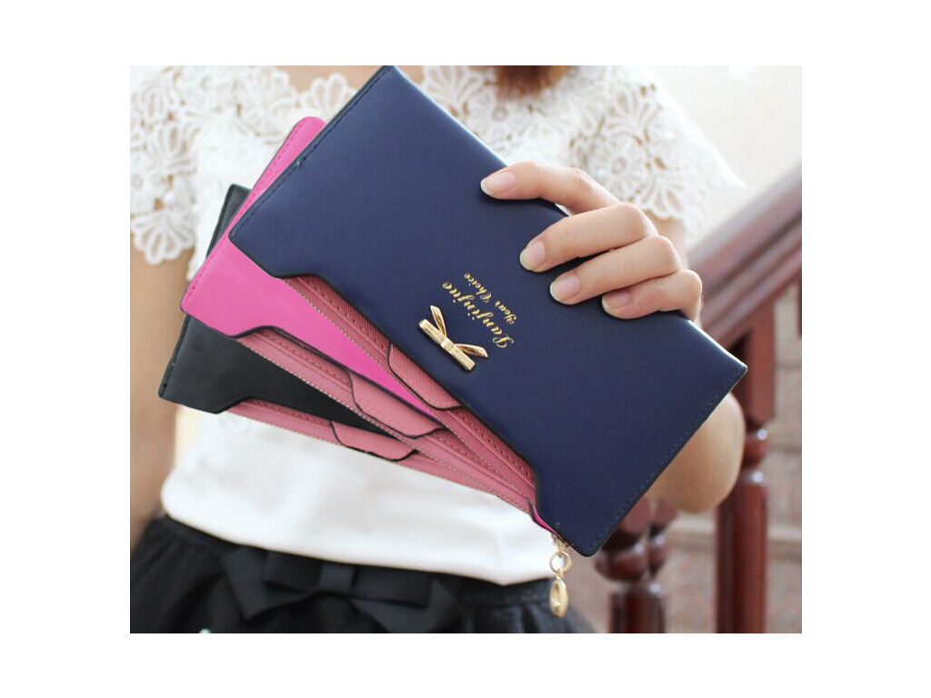 Elegantní peněženka Bow - více barev (Barevná varianta Černá)