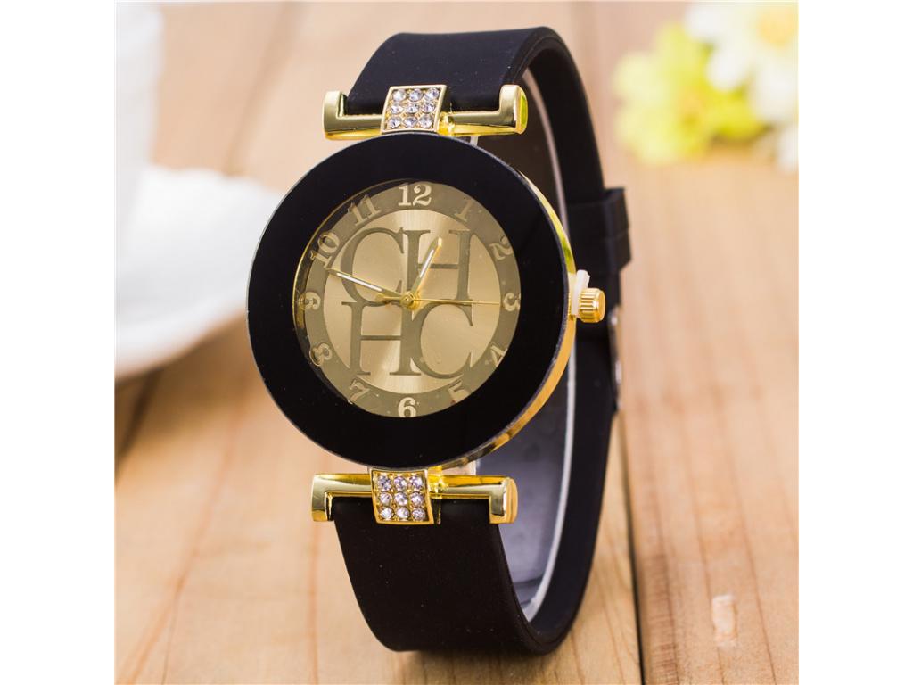 2017 New Fashion Brand Gold Geneva Casual Quartz Watch Women Crystal Silicone Watches Relogio Feminino Dress