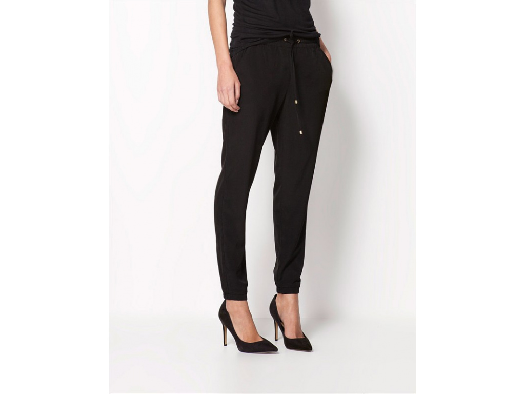 Hot Sale Casual Women Chiffon Pants Elastic Waist Solid Color Office OL Pants Summer Slim Lady