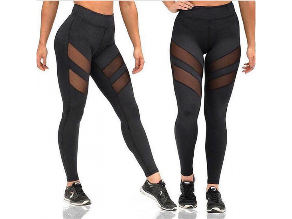 Ladies Mesh High Waist Workout Leggings Fitness Women Pants Breathable Push Up Leggings Women Quick Dry (2)