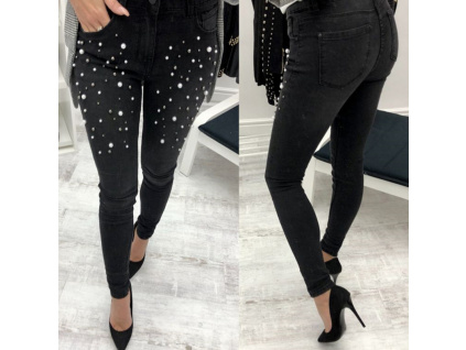Women Beaded Jeans Pencil Pants Embroidered Flares Sexy Bodycon Denim Pants Pearls Beading Skinny Pants Women (1)