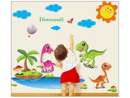 samolepky zed dinosauri