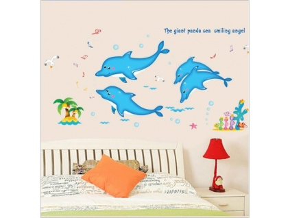 nalepky na zed delfini pokoj
