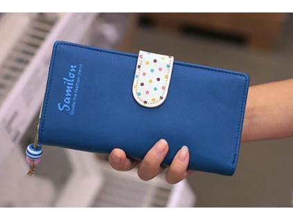 Peněženka Samilon Dots Long - více barev (Barevná varianta Dlouhá Modrá)