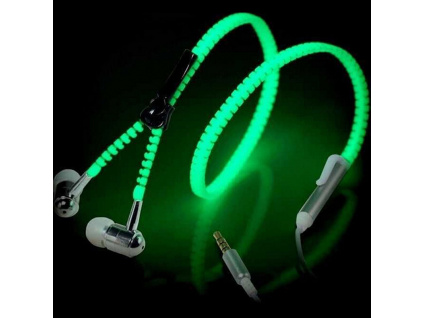 Teamyo Metal Zipper Luminous Earphone Glowing Music Stereo Headset With Mic Night Lighting Handsfree For iPhone (1)