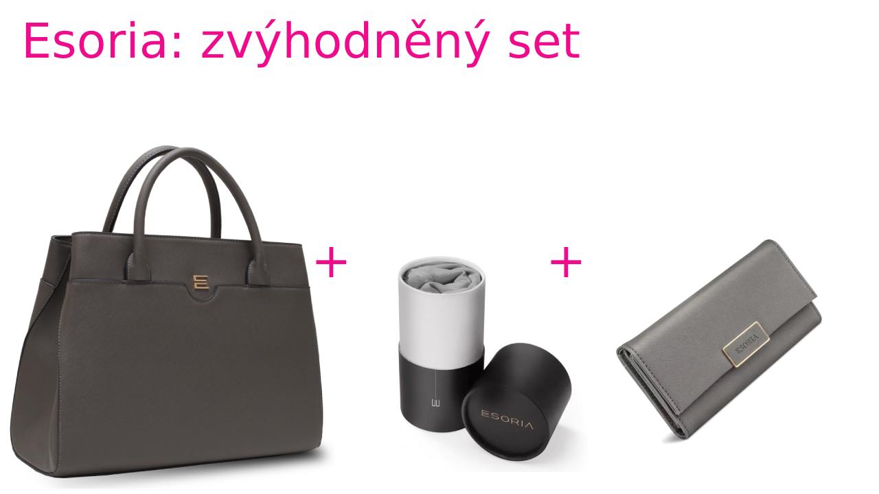 Zvýhodněná sada Esoria: kabelka Mimesis - pebble a šátek High Society šedý