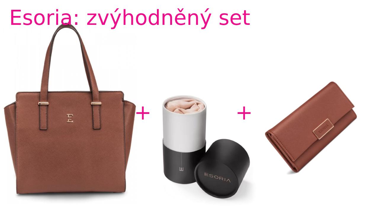 Zvýhodněná sada Esoria: kabelka Mozami Caramel a šátek High Society Nude