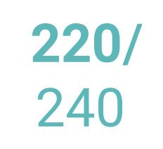 Bavlněná prostěradla 220x240 cm