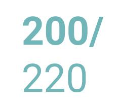 Froté prostěradla 200x220 cm