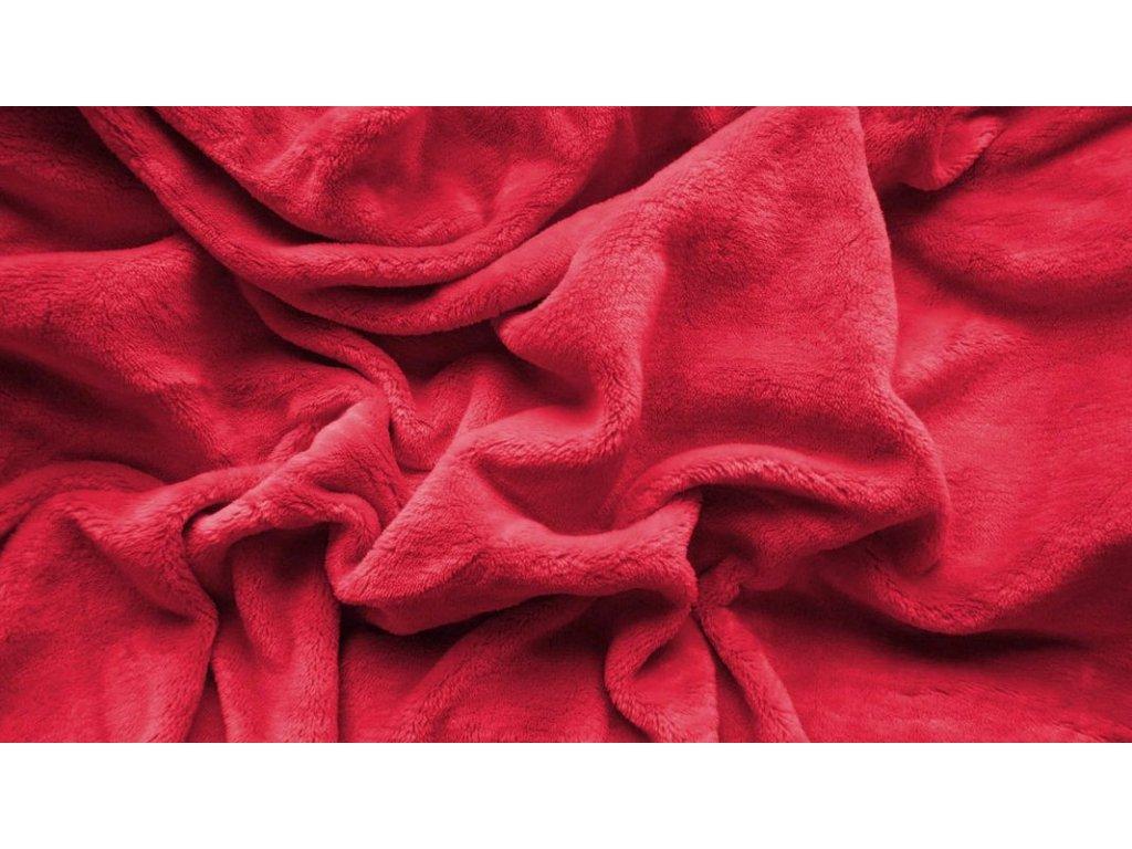 prostěradlo mikroplyš plyšové teplé jednolůžko 90 x 200 cm červené